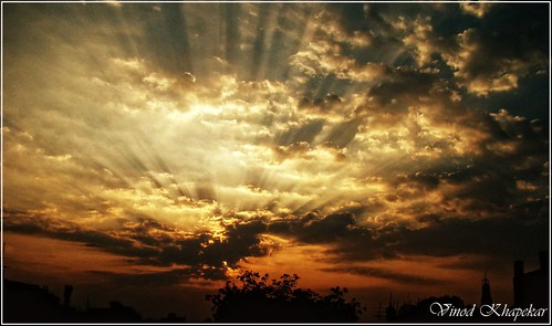 sunset nature landscape sony nagpur