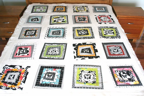 Momo Wonky Log Cabin Quilt with Flea Market Fancy