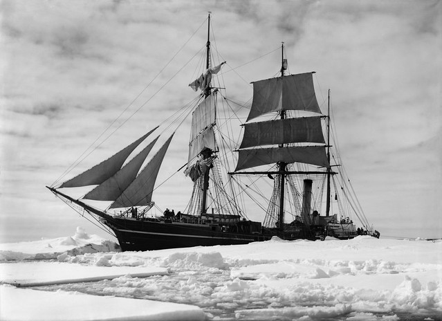 The Terra Nova helt up in the pack, Scott Expedition, Antarctica, by Herbert George Ponting 1910