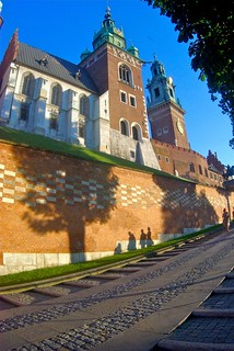 Image of Wawel Castle near Kraków. castle poland polska krakow wawel cracow kraków zenitar1628fisheye