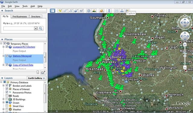 Google Earth Three Layers