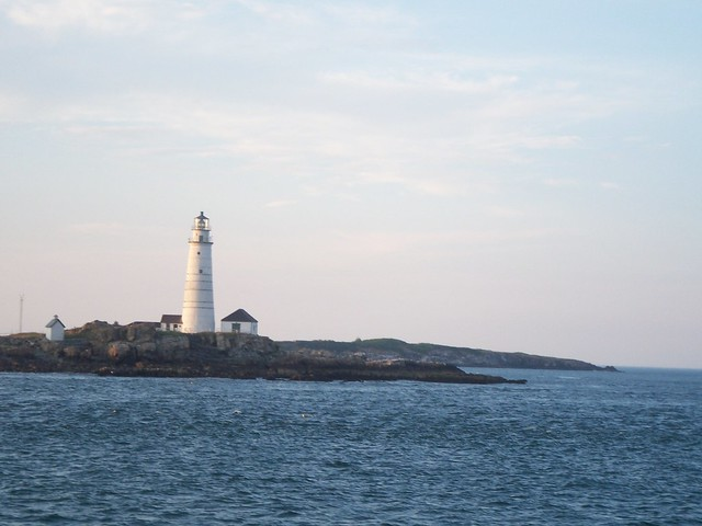 boston lighthouse on little brewster island