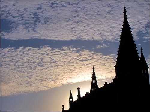 sunset sky clouds tramonto nuvole belgium silhouettes cielo gent gand pinnacles flanders belgio pinnacoli mywinners fiandre vanagram