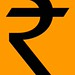 INDIA - NEW RUPEE SYMBOL - ORANGE