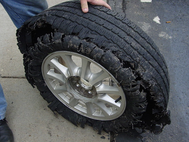 Wrecked Tire