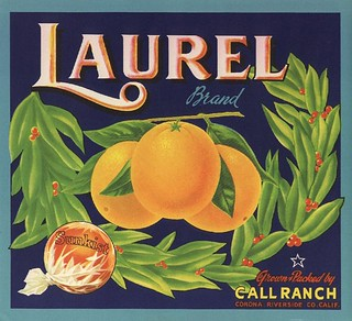 Laurel Orange Crate Label