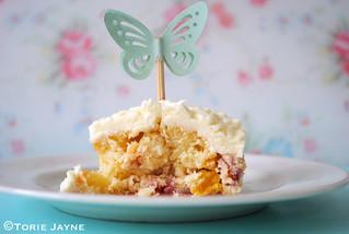 Gluten free Peachy white choc cupcake