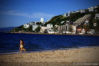 Image de Oriental Beach près de Wellington. bay wellington oriental