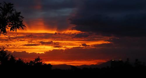 sunset utah logan cachecounty loganldstemple