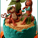 Monkey & Hula Girl Wedding Cake