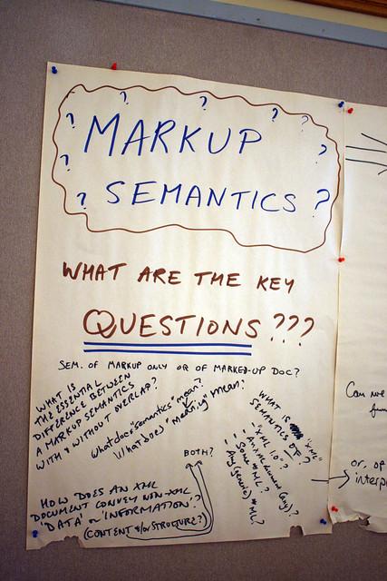 Markup semantics