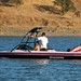 Ski boat on Calero Reservoir