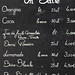 Chalk Board Menu
