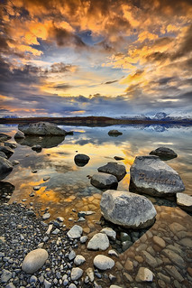 Sunset on Lake Tekapo