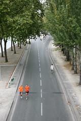 """Paris, voie Georges Pompidou, """" sans voitures """""""