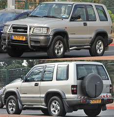 automobile, automotive exterior, sport utility vehicle, vehicle, isuzu trooper, compact sport utility vehicle, off-road vehicle, bumper, land vehicle,
