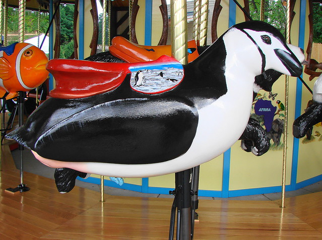Penguin Carousel Animal At The Akron Zoo
