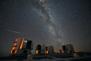 The 2010 Perseids over the VLT
