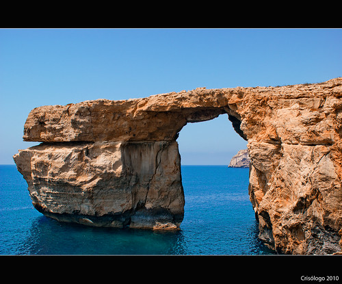 blue sea window rock azul ventana mar azure malta roca gozo