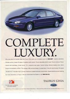 1996 Ford Taurus Ghia Ad - Australia