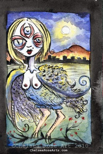 Harpy at Full Moon