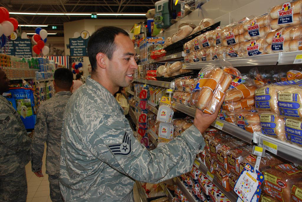 Shopping At Camp Darby Italy An Airman Checks Out The Bre Flickr
