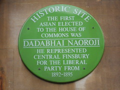 Photo of Dadabhai Naoroji green plaque