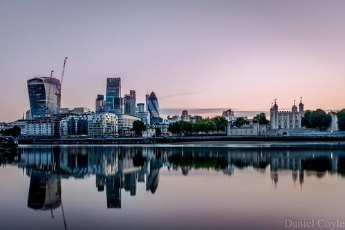 earlymorningreflections reflections london cityoflondon cityoflondonskyline cityscape cityskyline river thames riverthames danielcoyle d7100 nikond7100 nikon toweroflondon water walkietalkie cheesegrater gherkin natwesttower tower42 herontower longexposure calmwater stillwater flatwater sunrise citysunrise londonsunrise dawn londondawn