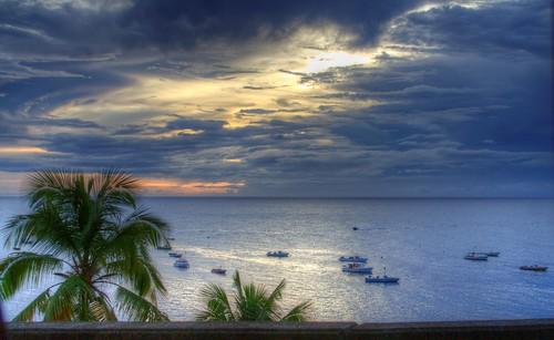 blue sunset sea boats boat paradise palm grenada caribbean grenadines hdr plamtree palmiste palmistebay