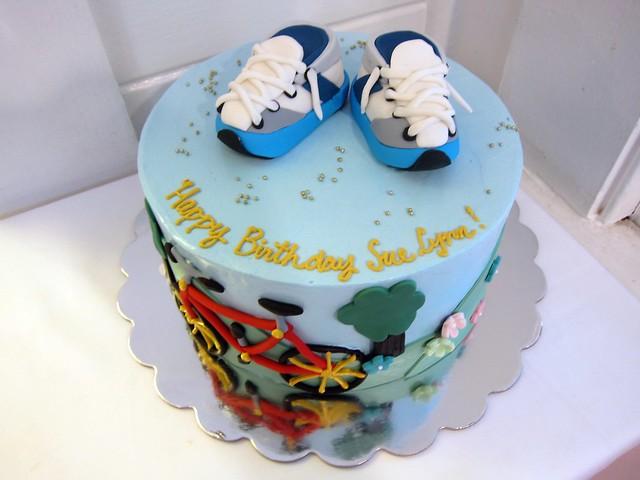 birthday cake for runners