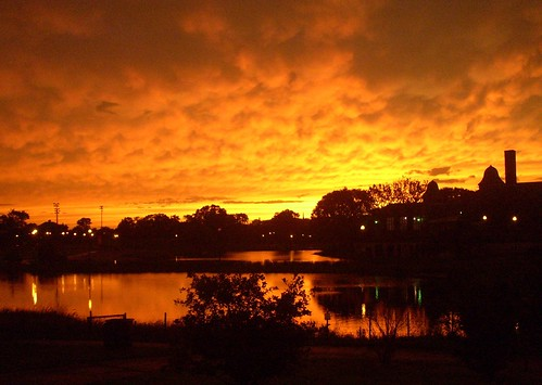post-storm sunset, Humboldt Park
