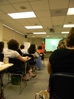 ann wylie teaching a writing workshop for IABC/DC Metro