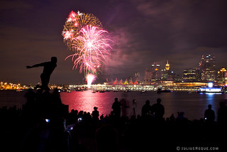 Canada Day Fireworks from the Harry Jerome Statue on Stanley Park