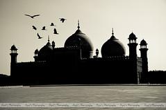 Silhouette Shot of Badshahi Masjid