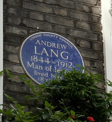 Photo of Andrew Lang blue plaque