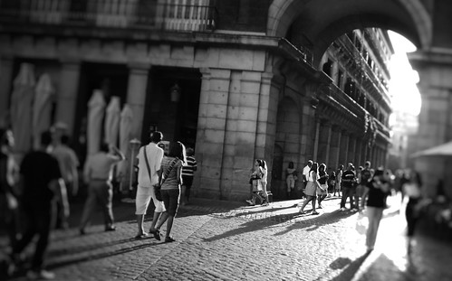 Bokeh en el centro de Madrid
