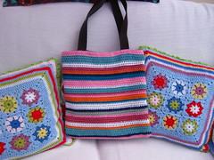 Crochet Stripe Handbag