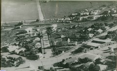 A view of the western section of Mallala with the Weighbridges and Fire Station  identified.