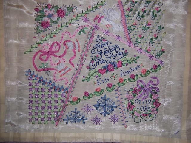 Wedding sampler ribbon embroidery flickr photo sharing