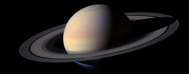 Saturn 102-frame Cassini composite by Mattias Malmer 2004