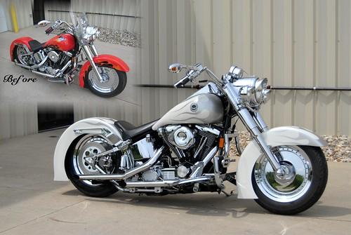 Harley Davidson Custom Painted