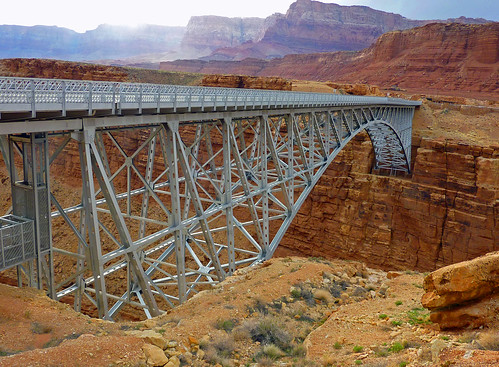 The Navajo Bridge near Lees Ferry, AZ