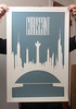 Coruscant -Screen Print by justinvg