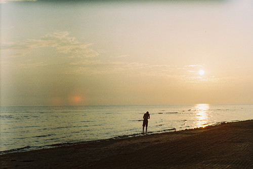 boy sea summer sky sun film water clouds sunrise seaside little july latvia human artur riga jurmala zenitet