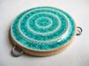 Beautiful Blue pendant! by artisanclay
