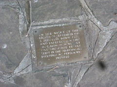 Photo of Abraham Alley bronze plaque