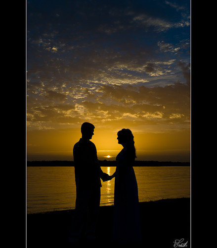 wedding sunset woman lake man reflection love silhouette dallas bravo couple texas littleelm lewisvillelake
