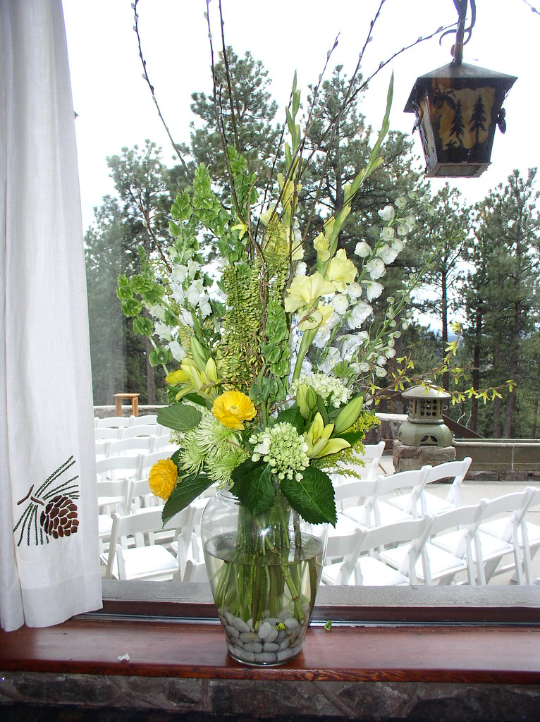Tall vase arrangement