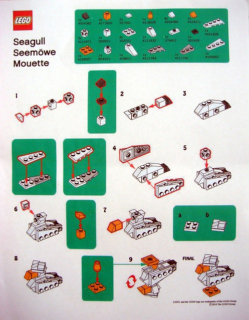 Monthly Lego Instructions