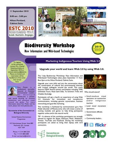 Marketing Indigenous Tourism / Biodiversity Workshop